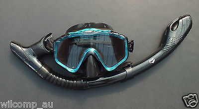 New Mask and Dry Snorkel - Snorkelling Diving Liquid Silicone Set WIL-DS-33A