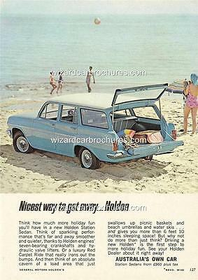 1964 Eh Holden Wagon A3 Poster Ad Sales Brochure Advertisement Advert