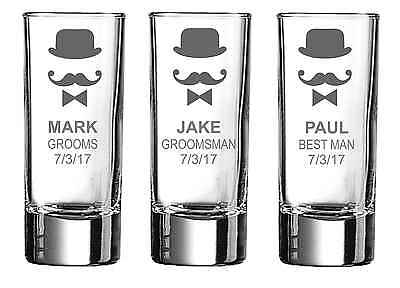 Personalised Engraved Shot glass Wedding Celebration Stag Hen Do Party Birthday2