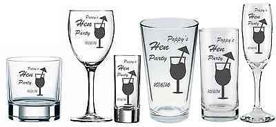 Personalised Engraved Shot glass Wedding Stag Hen  Party Birthday Gift by jevge