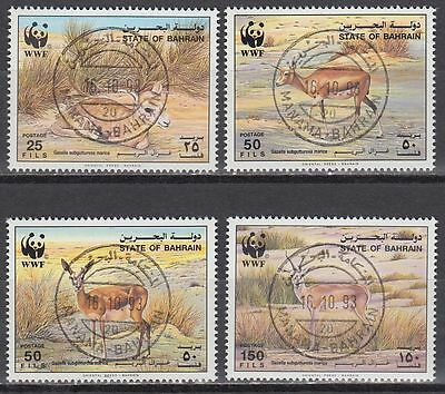 Bahrain 1993 used Mi.511/14 Tiere Animals Gazelle Naturschutz Protection [g2179]