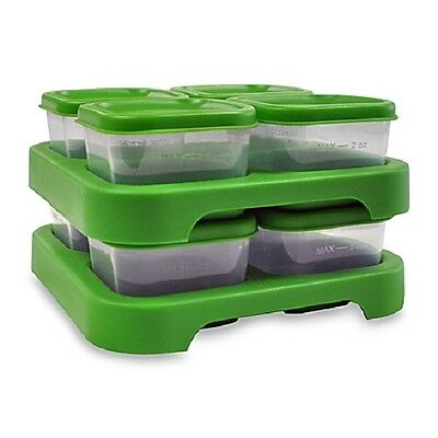 Green Sprouts - Polypropylene Freezer Cubes Green, 8 Cubes