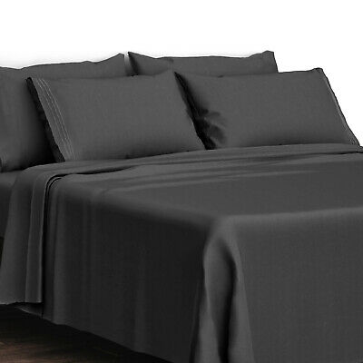Egyptian Bed Sheet 4 Piece Set 1800 Series Comfort - Deep Pocket And Embroidered