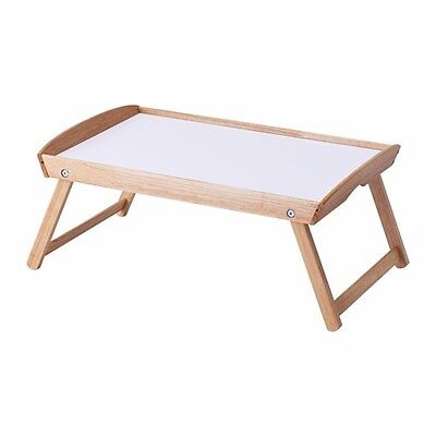 IKEA Breakfast Bed Tray Table Retractable Legs Folding Foldable Serving New