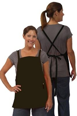 Black Fame Fabrics F57 Criss Cross Three Pocket Bib Apron Super Nice Fast Ship!