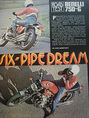 Benelli 750-6 # Original Vintage Motorcycle Article # 4 Pages