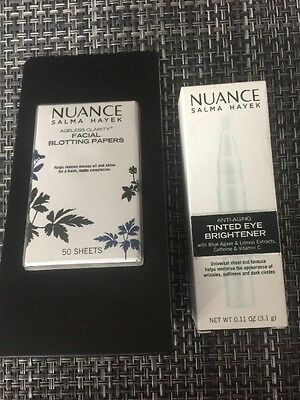 Nuance Salma Hayek Tinted Eye Brightener & Blotting Papers
