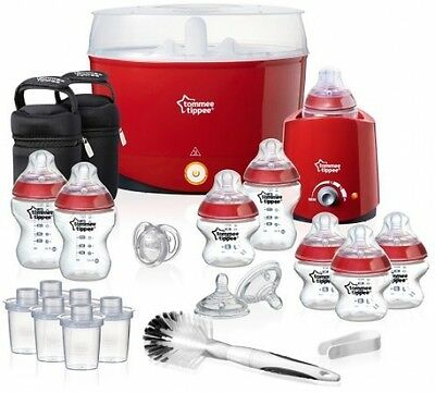 Tommee Tippee Closer To Nature Essentials Red Kit Steriliser Bottles Warmer
