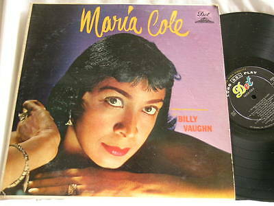 MARIA COLE with Billy Vaughn Dot mono dg LP wife of Nat King Cole Natalie's mom