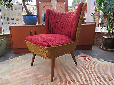 A Single Vintage East German Bartholomew Cocktail Chair C1955