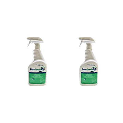 Puregreen24 32oz Spray Bottle Disinfectant and Deodorizer - 2Pack