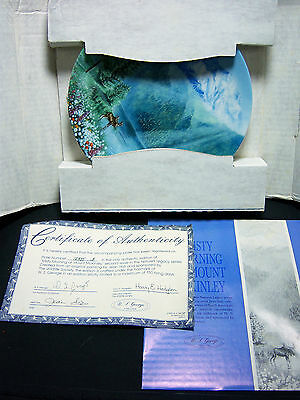 """W. S. George  1991 """"Misty Morning at Mount McKinley""""-Never Displayed-W box & COA"""