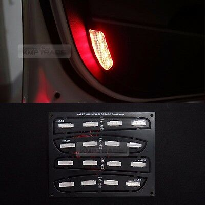 Safety Side Door Courtesy Light Lamp LED Module Red for KIA 2017-2018 Sportage