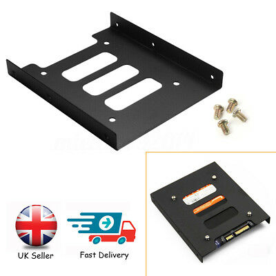 "2.5"" to 3.5"" Metal SSD HDD Mounting Adapter Bracket Hard Drive Holder/Tray UK"