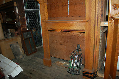 Architectural Antique Full   Fireplace Mantel Large Round Columns Faux Finish