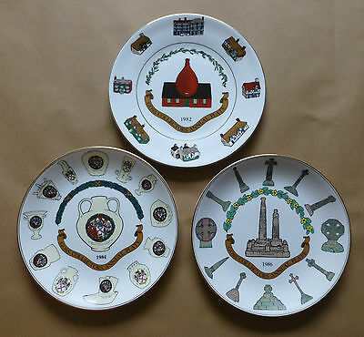 GOSS Collectors Annual Cabinet Plates (Individually Priced) - 10¾ Inches