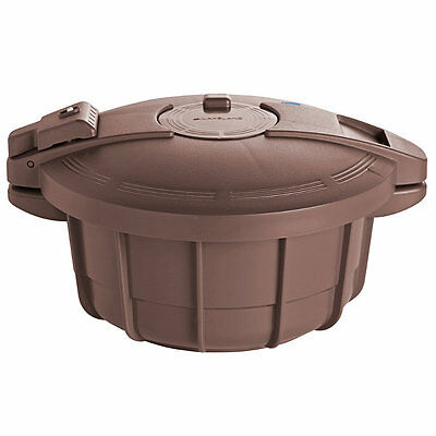 Lakeland Microwave Pressure Cooker (Recipes Included) 2.2L - Brown