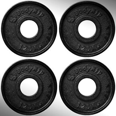 "Cast Iron Weight Plates 4 x 1.25kg fit 2"" Olympic Bars"