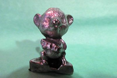 Pewter Mouse Standing On Cheese Wedge Figurine