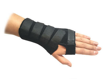 Solace Bracing Black Carpel Tunnel Sprain Pain Breathable Wrist Support Brace