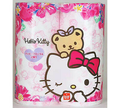 Hello Kitty toilet paper 4 rolls Happy Flower Scent.