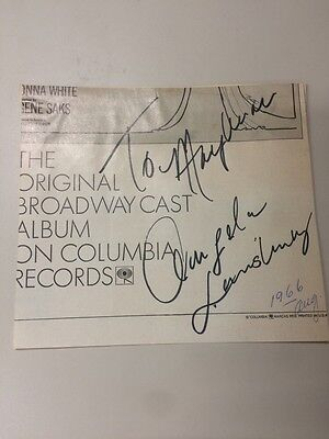 Angela Lansbury Autograph Signed Playbill Cut Aug 1966