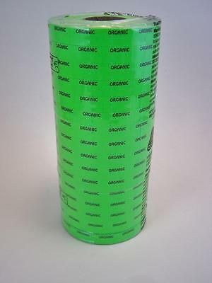 16 Rolls Bright Green Organic Price Tag Labels for Monarch 1110    stickers 420
