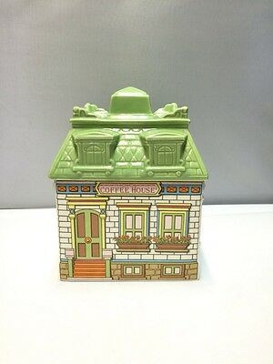 Vintage Avon Ceramic Coffee House Shaped Canister or Cookie Jar ~ Made In Brazil