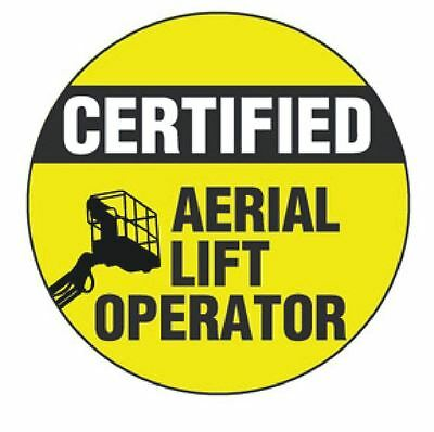 Certified Aerial Lift Operator Hard Hat Decal Hardhat Sticker Helmet Label H120