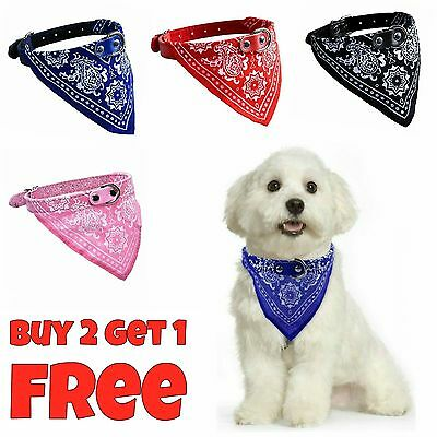 Adjustable Pet Puppy Dog Cat Neck Scarf Bandana with Collar For Pets Neckerchief