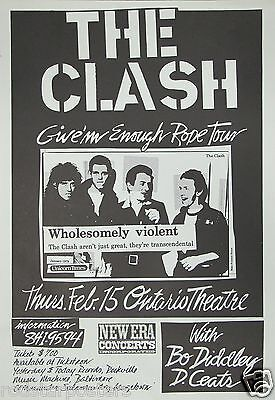 0443 Vintage Music Poster Art  The Clash  *FREE POSTERS