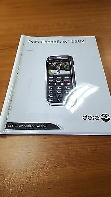 Doro Phone Easy 520X  Printed Instruction Manual User Guide 68 Pages