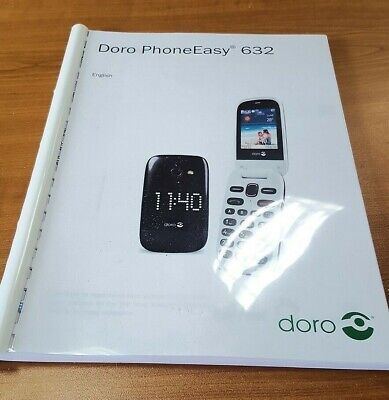 Doro Phone Easy 632 Printed Instruction Manual User Guide 68 Pages