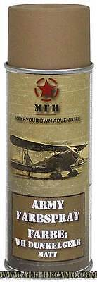 MFH Bombe peinture militaire aérosol DUNKELGELB MAT Army Paint Farb Spray 400mL