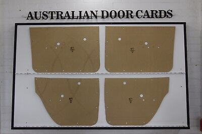 Holden HG, HT Door Cards, Blank Trim Panels. Sedan, Wagon. Quality Masonite