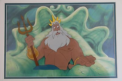 Original Hand Painted Production Cel  KING TRITON Little Mermaid Walt Disney