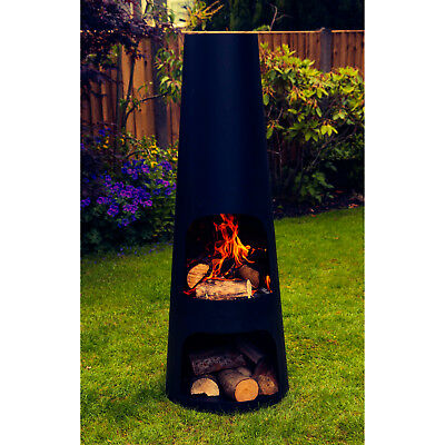 Made O' Metal Large Steel Garden Patio Chimenea Chimney Log Fire Burner Heater