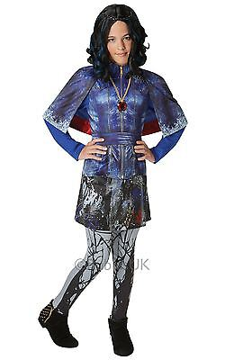 Kids Deluxe Evie Costume Girls Fancy Dress Disney's Descendants Leggings Cape