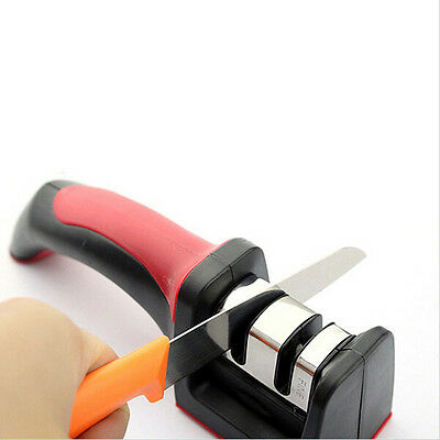 Two Stages Diamond/Ceramic Kitchen Knife Sharpener Household Tools with handle