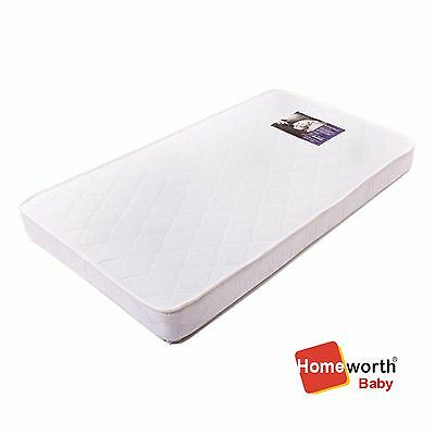 New Babyrest Am12/68 131X68Cm Cotton Cot Mattress Waterproof Crib Baby Bed White