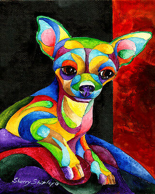 Chihuahua 8X10 DOG Print from Artist Sherry Shipley