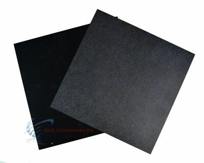 "2 Pcs ABS Plastic Sheets Flexible 12"" x 12"" Black High Quality Car Audio Install"