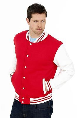 Uneek Clothing-Mens-Varsity Jacket-300 gsm