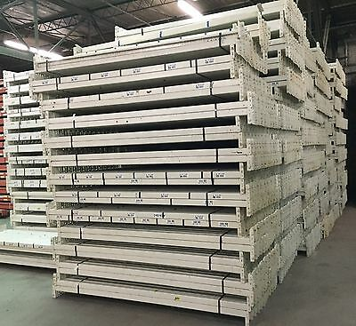 "USED 96"" Teardrop Pallet Rack Beams"