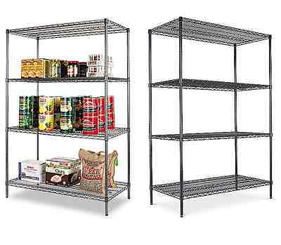 Alera Four Steel Commericial Wire Shelving 48x24x72 4 Shelf or 2 Two-Tier Racks