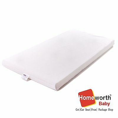 NEW BABYREST AM3 BASSINET MATTRESS  WHITE Removable cover 890x440x50MM