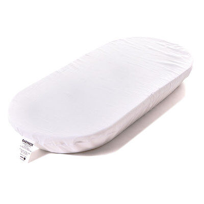NEW BABYREST AM6  CARRY BASSINET MATTRESS 750x370x50MM WHITE Removable cover