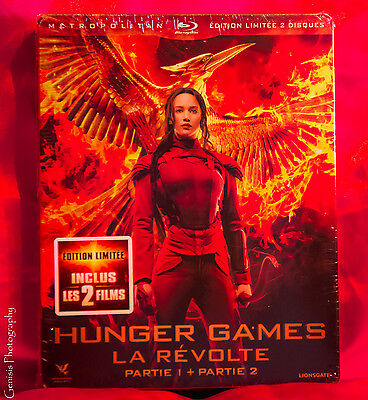 The Hunger Games: Mockingjay Part 1 & 2 Blu-ray Limited Edition Steelbook