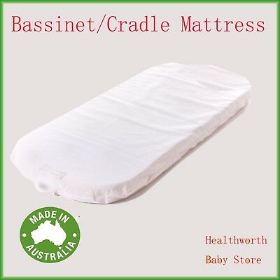NEW  Ventilated MALMO cradle BASSINET MATTRESS 910X400x50 mm round