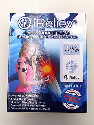 iReliev Dual Channel TENS Electro Relief for Muscle&Joint Pain ET-1313
